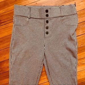 Zara Trafuluc high waist stretch pants gingham. M